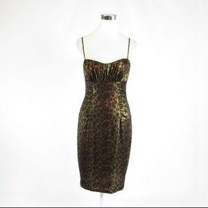 David Meister olive green dress 6